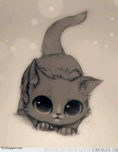 أجمل صور قطط Kitten Drawing Cute Anime Cat Anime Kitten