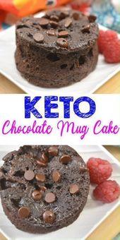 MEJORES pasteles de taza Keto! Idea de pastel de taza de chocolate sin harina de microondas baja en carbohidratos – Qu …