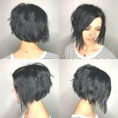 Die modernen Bob Frisuren mit A-Linie (hinten kurz, vorne lang) – Neue Frisuren