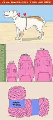 How to knit a sweater for a dog
