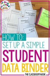 Tips on how to Set Up a Easy Scholar Knowledge Binder — THE CLASSROOM NOOK