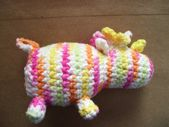 Cotton Amigurumi Rainbow Unicorn Plushie Squeaker Dog Toy, crochet dog toy, kawaii unicorn toy, tough dog toy