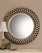Amazon Com Extra Large Celtic Knot Round Wall Mirror Silver Gold Circle Twisted Fretwork Wall Mounted Mir Round Wall Mirror Antique Gold Mirror Mirror Wall