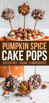Pumpkin Spice Cake Pops   – Kuchen & Kekse (vegan, glutenfrei und gesund)