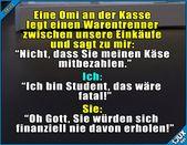 Omi weiß bescheid! #Student #studieren #Studentenleben #Studentlife #Humor #lus… – Brinax3