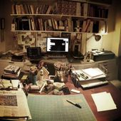 Illustrator Workspace Austin Kleon's Office :: LOVE his system of using 2 desks. One is analog(has...