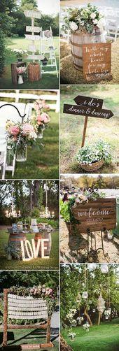 Hochzeitsdekorfotos: erstaunliche Gartenhochzeit