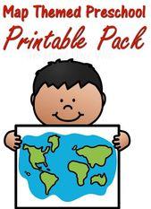 Map Themed Preschool Worksheets Printable Pack  – Roadschool -The Frugal Navy Wife Group Board