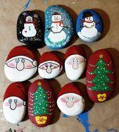 Versuchen Sie diese niedlichen Weihnachtsfelsen-Malideen für K …