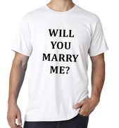 Shirt Will You Marry Me Wedding ceremony Marriage Proposal Engagement Photograph Prop