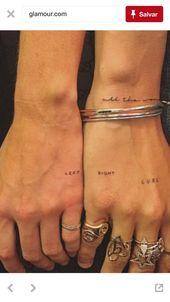 30 sinnvolle Paare kleine Tattoo Ideen und Designs – Seite 25 von 30  – Tattoos