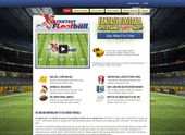 This mobile friendly fantasy sports web design example should serve as great ins…