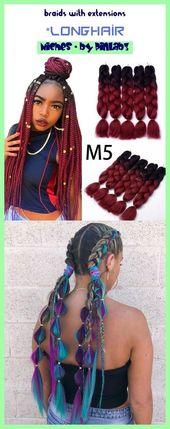Braids with extensions #braids #extensions Zöpfe mit Verlängerungen _ tresses …