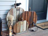 25 Ideen, wie man eine tolle DIY Herbstdekoration für draußen macht