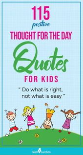 115 Optimistic Thought For The Day Quotes For Children
