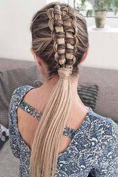 Elegant Zipper Braid Mohawk #longhair #braids #fauxhawk  Fancy trying braided mohawk hairstyles? French braidhawk with weave dutch updo with curls and...