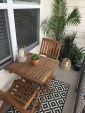 Kleine Balkongestaltung und Dekorideen. Kleiner Garten. Ziel und wo… #balkon – Makeup Desk İdea – BesteHaare – Diy – Kleiner Balkon