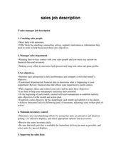 Job Description For Retail Sales Associate Resume