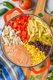 Diese One Pot Southwestern Alfredo Pasta ist super leicht zusammen zu …  #alfr…