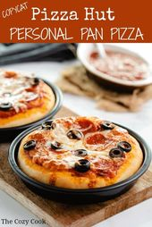Now you can make your favorite Pizza Hut personal pan pizzas from home! This dou…