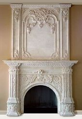 Details about BEAUTIFUL HAND CARVED MARBLE FIREPLACE MANTEL HL001