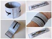 Flickensalat: Eine Kleinigkeit genäht: Armband-Tasche – #costura #Costurafacil …