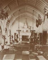 Belcourt Newport Ri Residence Built For Mr Ohp Belmont And Then Gifted To His Bride Alva Smith Vanderbilt Mrs W K Belcourt Gothic Interior Summer Cottage