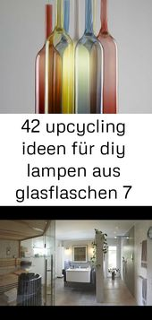42 upcycling ideas for diy glassware bottles 7