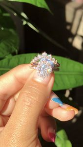 Large 7 Stone Diamond in Pave Band + Halo Moissanite Engagement Ring by La More Design