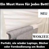 🛏Bewahren Sie Ihren Laptop, Fernbedienung oder Bücher in dieser Filz Bett Organizer Tasche auf😍