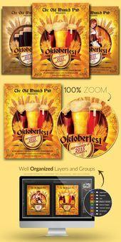 Oktoberfest München Flyer Vorlage   – Flyer Templates – #Flyer #München #oktob…
