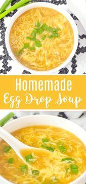 """This easy delicious Homemade Egg Drop Soup Recipe…"