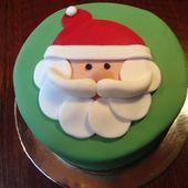 Pastel de navidad santa cara   – Kuchendeko und mehr