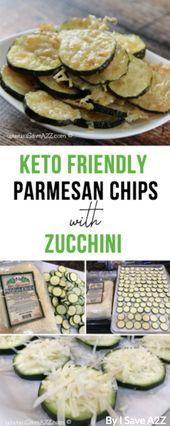 30 erstaunliche Keto-Snacks zum Abnehmen: Zucchini-Parmesan-Chips von I Save A2Z. T …