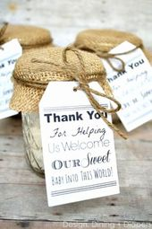 Comfortable 16 attractive Baby Shower Thank You Gift Ideas  Graphics Photographs…