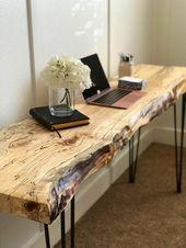 Live Edge Table / Live Edge Desk / Live Edge Sofa Table / Desk / Live Edge Wood Slab / Entryway Table / Slab Table / Handcrafted