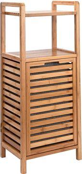 Butlers Big Bamboo Bad Regal Mit Waschekorb Aus Bambus 40x95 Cm Badezimmer Schrank Aus Holz Amazon De Kuche Hausha In 2020 Waschekorb Bambus Badezimmer Schrank