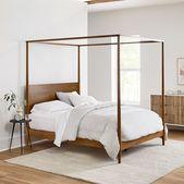 Mid-Century Canopy Bed – Acorn | West Elm