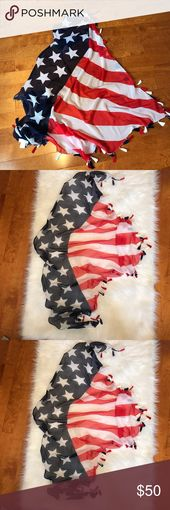 American flag tassel sarong sheer red white & blue Brand: Size: ONE Condition: p…