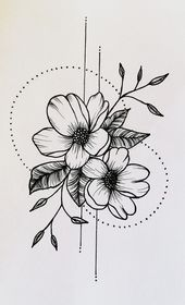 Tattoo flower tattoo unique tattoo tattoo design #flowertattoos #flowertattoos #flowertattoos