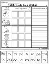 J. Ossorio Papercraft: Papercraft recortable educativo de palabras de tre…