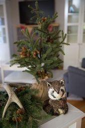 Baby Shower Haul Pine Tree + Raccoon from a Woodland Baby Shower via Kara's Party Ideas | KarasPa...