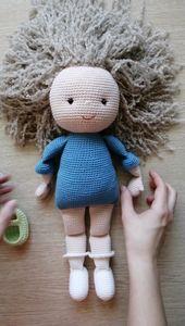 Muster häkeln Puppen. PDF Amigurumi Mädchen. Amigurumi Puppe Muster