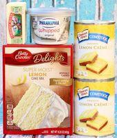 Lemon Cheesecake Dump Cake with Lemon Cake Mix, Lemon Pie Filling, Philadelphia …