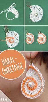 Crochet earrings – Instructions for crochet earrings