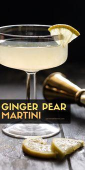Keine Party ist komplett ohne einen Signature Cocktail! Diese Ingwer Birne Martini …   – Drinks