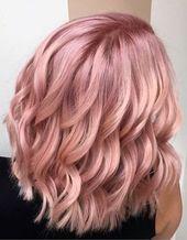 """27 Roségold-Haarfarben-Ideen, mit denen Sie sagen: """"Wow!"""", Roségold-Haarfarben …   – Rose Gold Hair Color"""