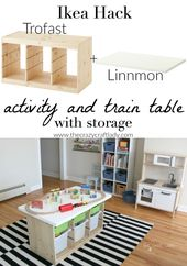 Ein Ikea Hack Train & Activity Table
