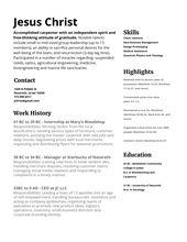 Jesus Christ Resume | Resumes | Pinterest | Professional resume and Badass