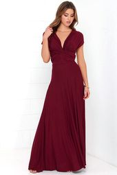 Tricks of the Trade Burgundy Maxi Dress